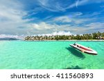 the paradise island in trang... | Shutterstock . vector #411560893