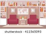 interior design living room in... | Shutterstock .eps vector #411565093