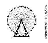 vector illustration. ferris... | Shutterstock .eps vector #411566443