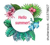 vector illustration of summer... | Shutterstock .eps vector #411578827