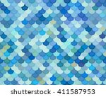 seamless pattern of blue flakes | Shutterstock .eps vector #411587953