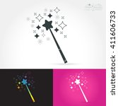 magic wand isolate icon with... | Shutterstock .eps vector #411606733