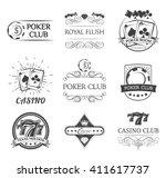 vintage poker label. filigree...   Shutterstock .eps vector #411617737