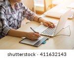 business man working in a...   Shutterstock . vector #411632143