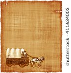 an old worn parchment featuring ... | Shutterstock . vector #411634003