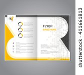 vector modern brochure ... | Shutterstock .eps vector #411661813