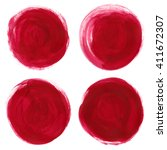 set paint stains round. acrylic ... | Shutterstock . vector #411672307