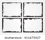 grunge frame set.grunge... | Shutterstock .eps vector #411675427
