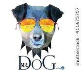 Dog Hipster Man  Mr. Dog...