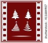 christmas tree sign icons ... | Shutterstock .eps vector #411684907