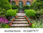 entranceway from an old english ... | Shutterstock . vector #411687577