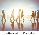 business people commuter... | Shutterstock . vector #411710383