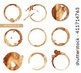 vector set of traces of a... | Shutterstock .eps vector #411714763
