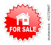 for sale red tag  sticker ... | Shutterstock . vector #411729847