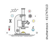 microscope lines design vector  ... | Shutterstock .eps vector #411747613