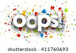 oops paper card with color... | Shutterstock .eps vector #411760693