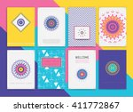 cute collection of templates... | Shutterstock .eps vector #411772867