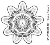 mandala. vector ethnic oriental ... | Shutterstock .eps vector #411776173