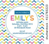 Birthday Party Invitation With...