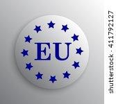 european union icon. internet... | Shutterstock . vector #411792127