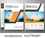 flyers design template vector.... | Shutterstock .eps vector #411794287