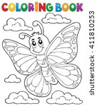 Coloring Book Happy Butterfly...