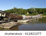 torre d'oglio  mn   italy  the... | Shutterstock . vector #411821377