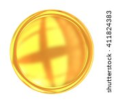 golden web button isolated on... | Shutterstock . vector #411824383