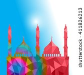 beautiful religious eid... | Shutterstock .eps vector #411826213