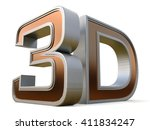 3d logo isolated on white... | Shutterstock . vector #411834247