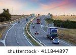 highway transportation with... | Shutterstock . vector #411844897