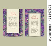 set of boho card template... | Shutterstock .eps vector #411847873