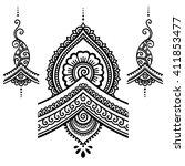 henna tattoo flower template...