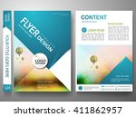 flyers design template vector.... | Shutterstock .eps vector #411862957