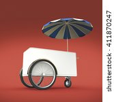 promotion counter on wheels...   Shutterstock . vector #411870247