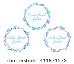 Set Of Vector Floral Frame For...
