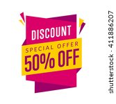 discount tag bitmap isolated.... | Shutterstock . vector #411886207