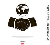 business handshake. handshake... | Shutterstock .eps vector #411891367