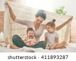 happy loving family. mother and ... | Shutterstock . vector #411893287