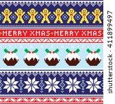 christmas jumper or sweater... | Shutterstock .eps vector #411899497
