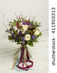 Bouquet Of White And Violet...