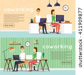 co working people  business...   Shutterstock .eps vector #411909877