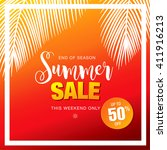 summer sale template banner | Shutterstock .eps vector #411916213