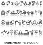 eco friendly bio green energy... | Shutterstock . vector #411920677