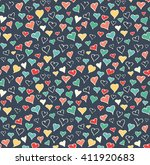 seamless festive love abstract... | Shutterstock . vector #411920683