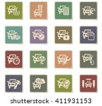 car service web icons for user... | Shutterstock .eps vector #411931153