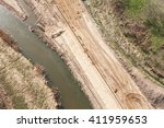 aerial view of  over the river... | Shutterstock . vector #411959653