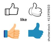 design thumbs up icon. like...   Shutterstock .eps vector #411959833