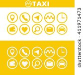 taxi icons set. flat style | Shutterstock .eps vector #411971473