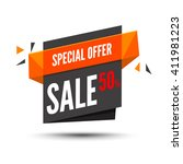 sale banner. marketing... | Shutterstock .eps vector #411981223